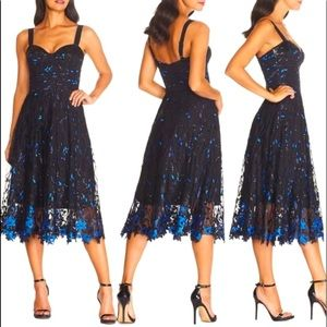 Dress the Population Blue Corina Embellished Dress